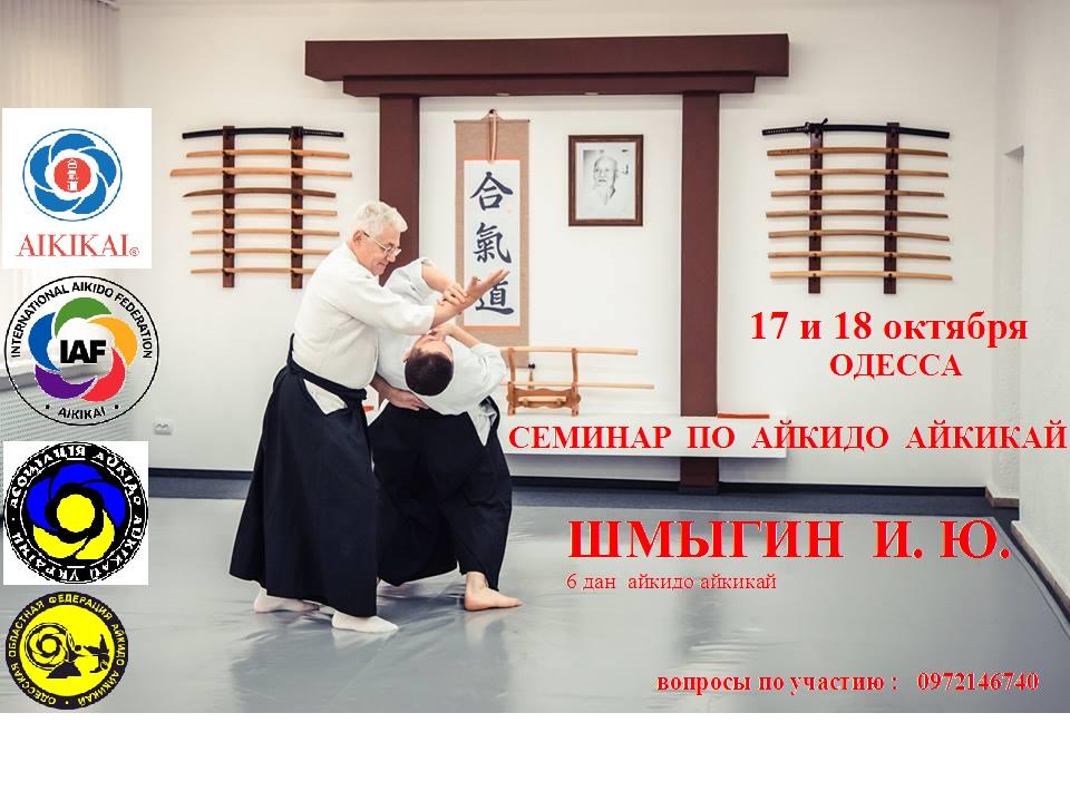 17 и 18 октября — Семинар Айкидо!